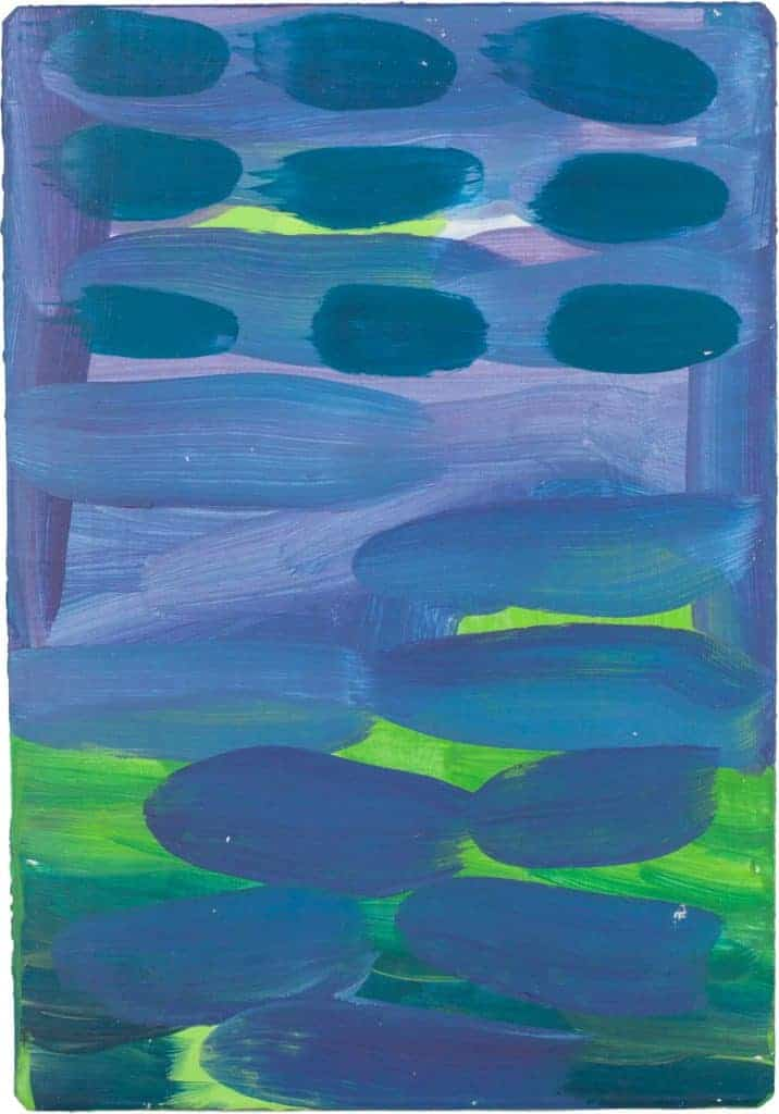 abstract painting, purple, sea, tide, colour, brush marks,
